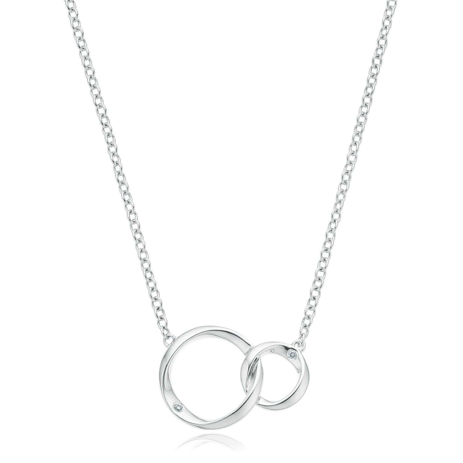 Sterling Silver Diamond Pendant Set