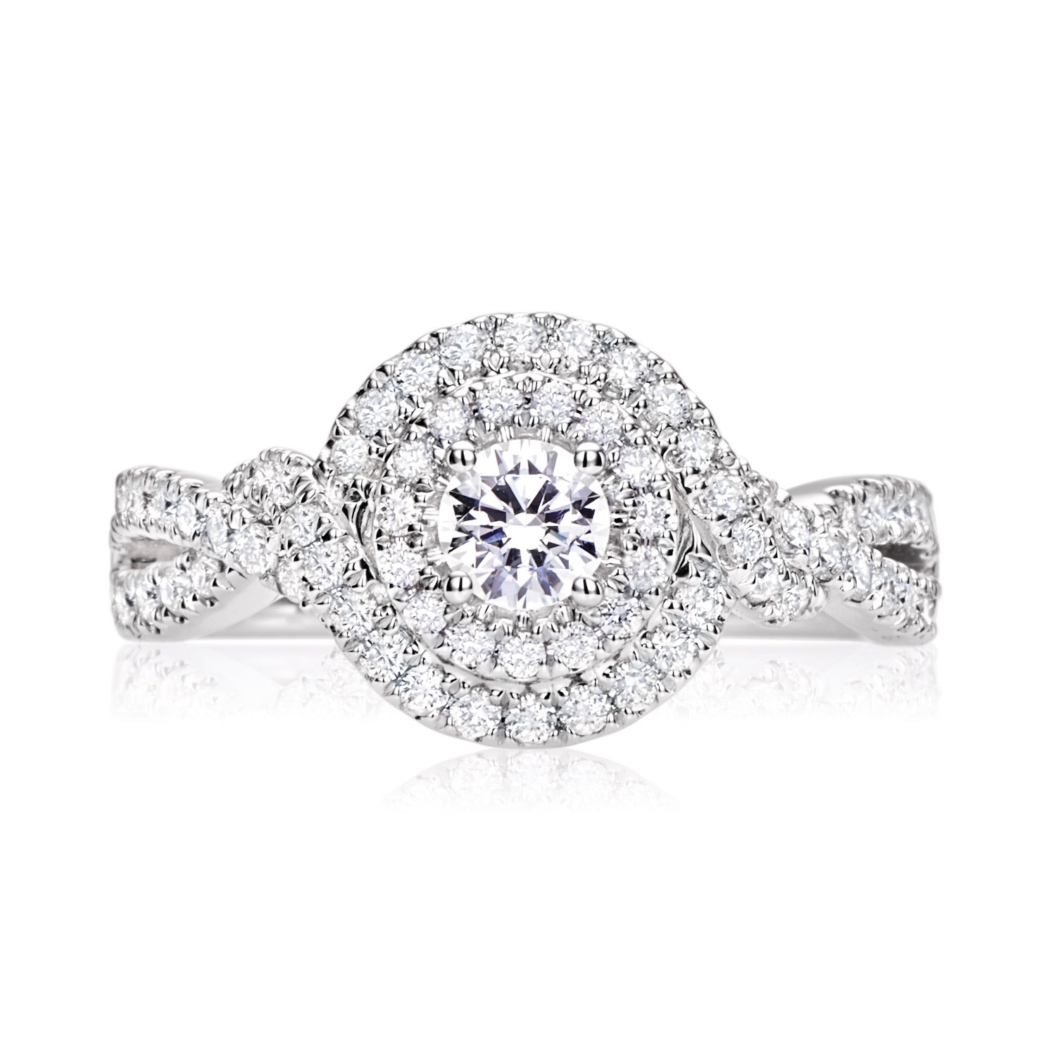 Vera Wang Love 18ct White Gold Round Brilliant Cut with 0.95 CARAT tw of Diamonds