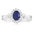 Vera Wang Love 18ct White Gold Oval Cut with 1/4 CARAT tw of Diamonds