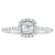 Halo 18ct White Gold Round Brilliant Cut with 0.55 CARAT tw of Diamonds