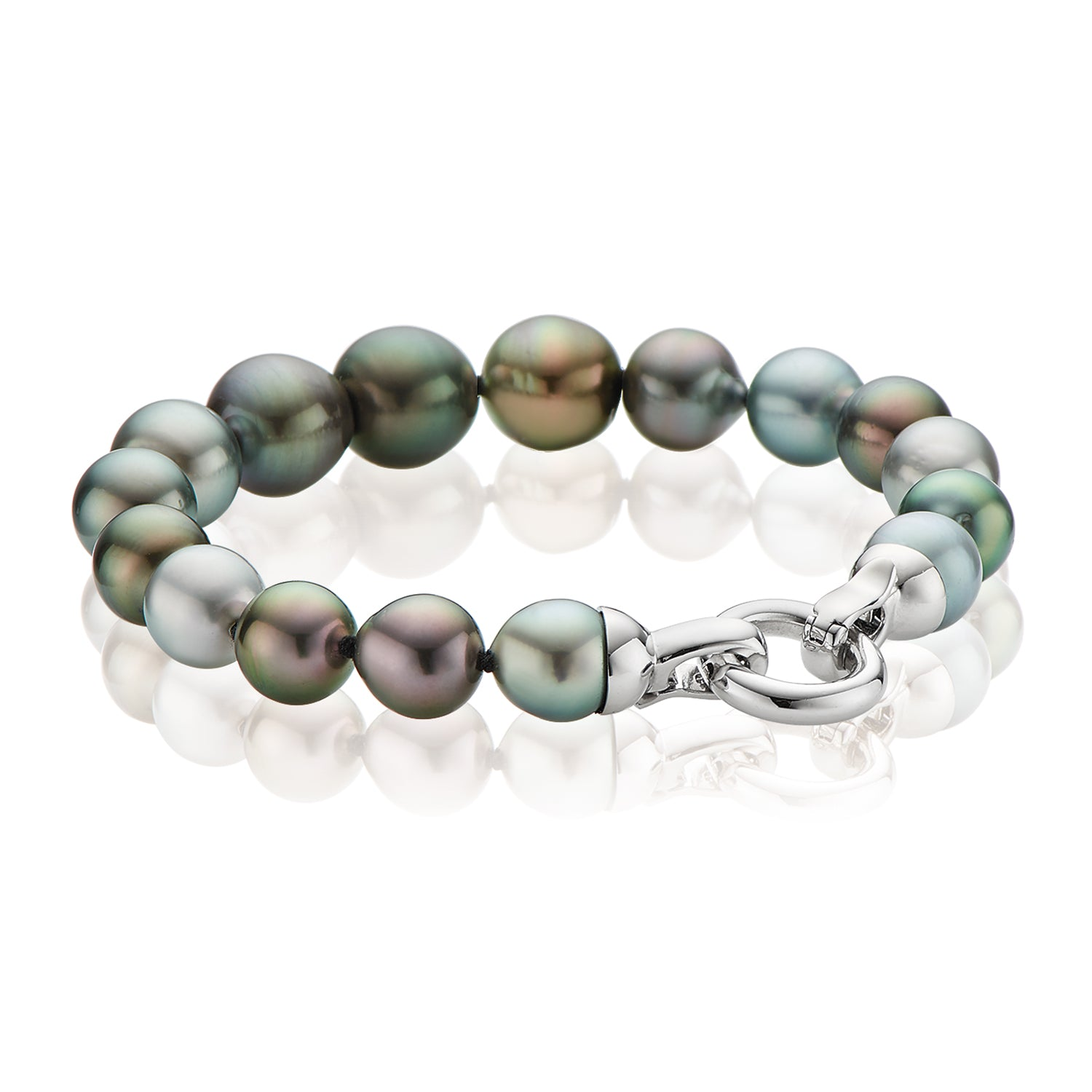 Sterling Silver 8-12mm Tahitian Pearl