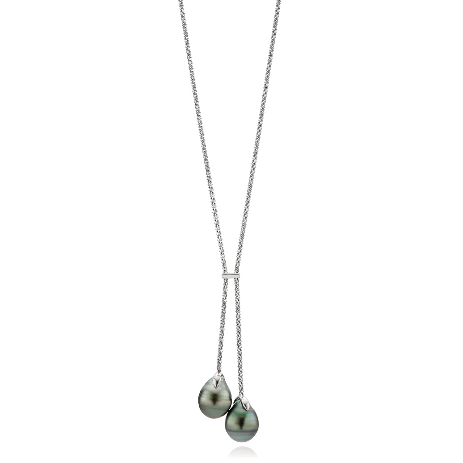 Sterling Silver 10-12mm Tahitian Pearl