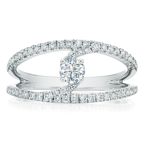 Forevermark 18ct White Gold Round Brilliant Cut with 3/4 CARAT tw of Diamonds