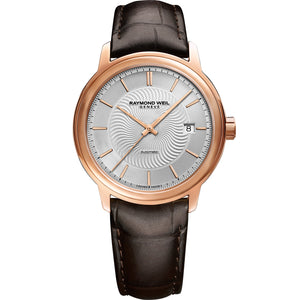 Maestro Men's Rose Gold Automatic Genuine Calf Leather Watch 2237-PC5-65001