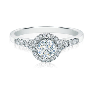 Forevermark 18ct White Gold Round Brilliant Cut with 0.74 CARAT tw of Diamonds