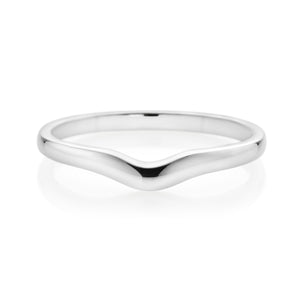 Forevermark 18ct White Gold Curved Wedding Band