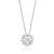 Forevermark 18ct White Gold Round Brilliant Cut with 0.19 CARAT tw of Diamond Pendant