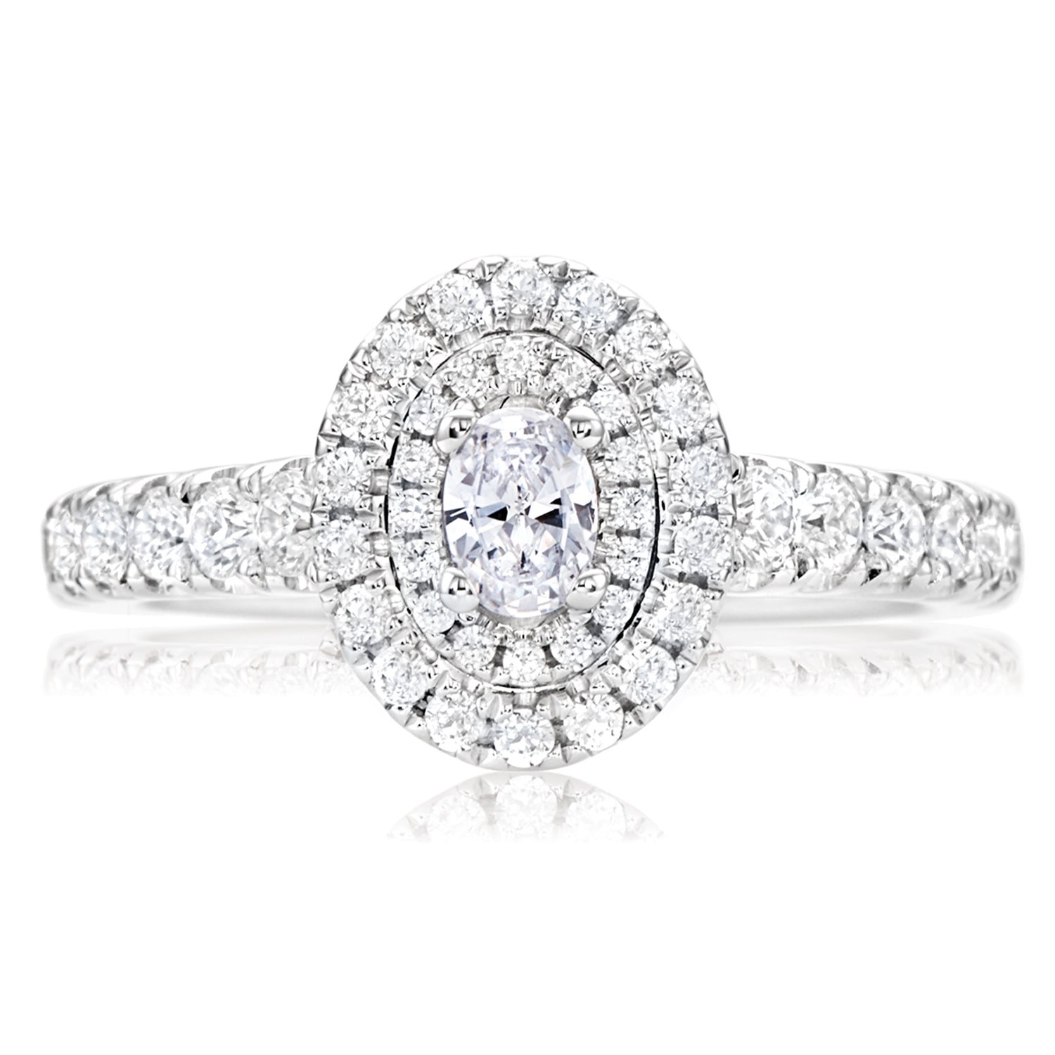Vera Wang Love 18ct White Gold Oval & Round Brilliant Cut with 1 CARAT tw of Diamonds