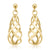 9ct Yellow Gold Twist Drops