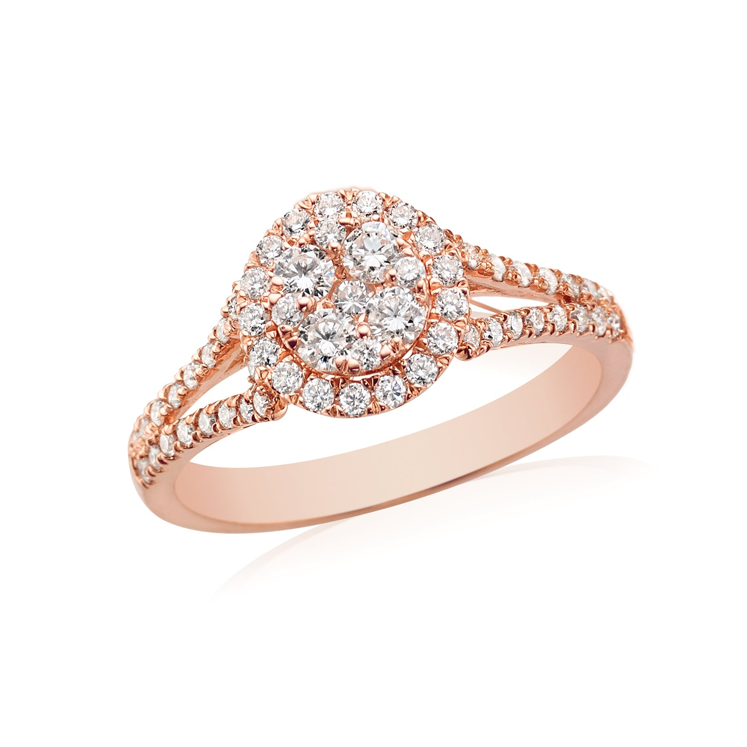 18ct Rose Gold Round Brilliant Cut with 0.70 CARAT tw of Diamonds