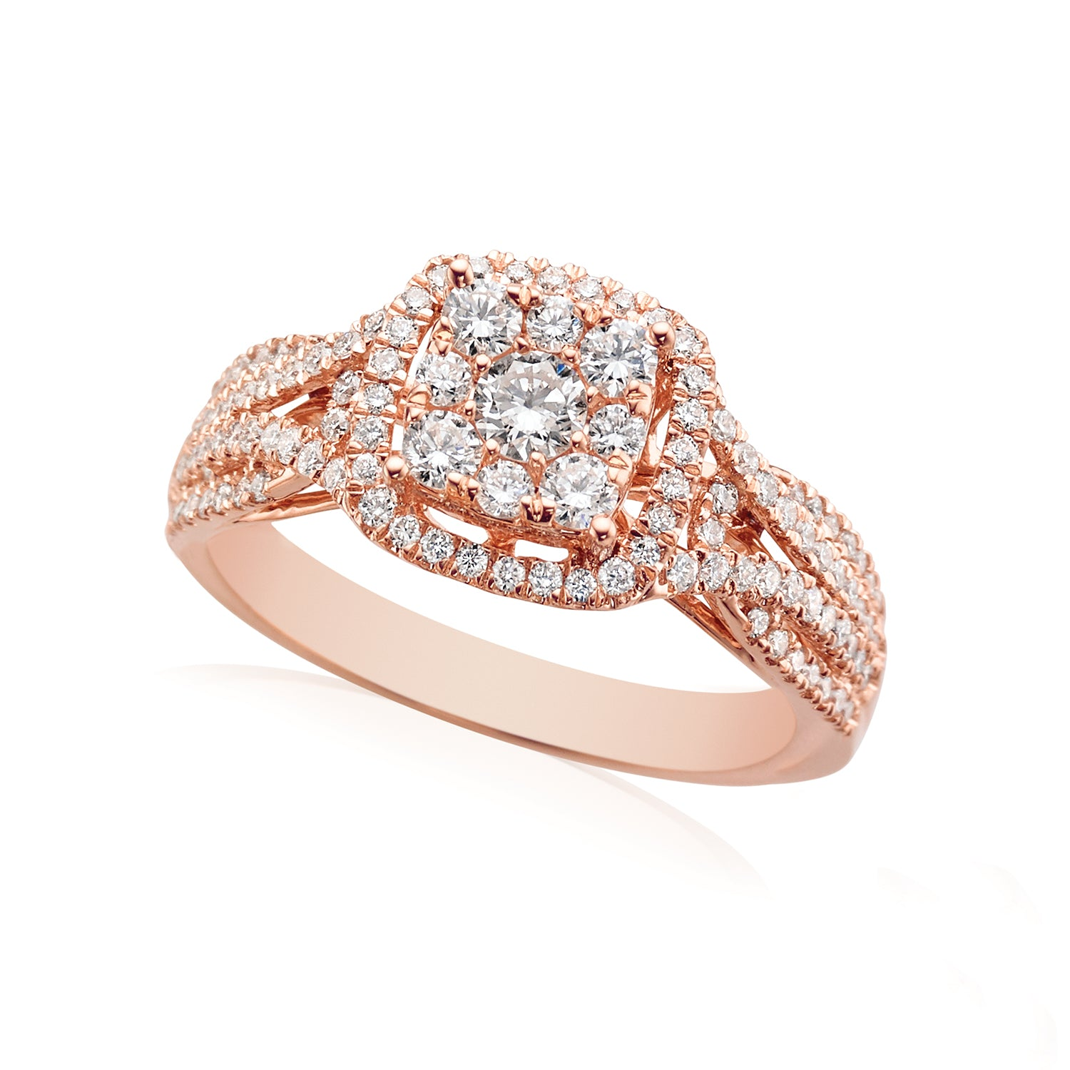 18ct Rose Gold Round Brilliant Cut with 0.80 CARAT tw of Diamonds