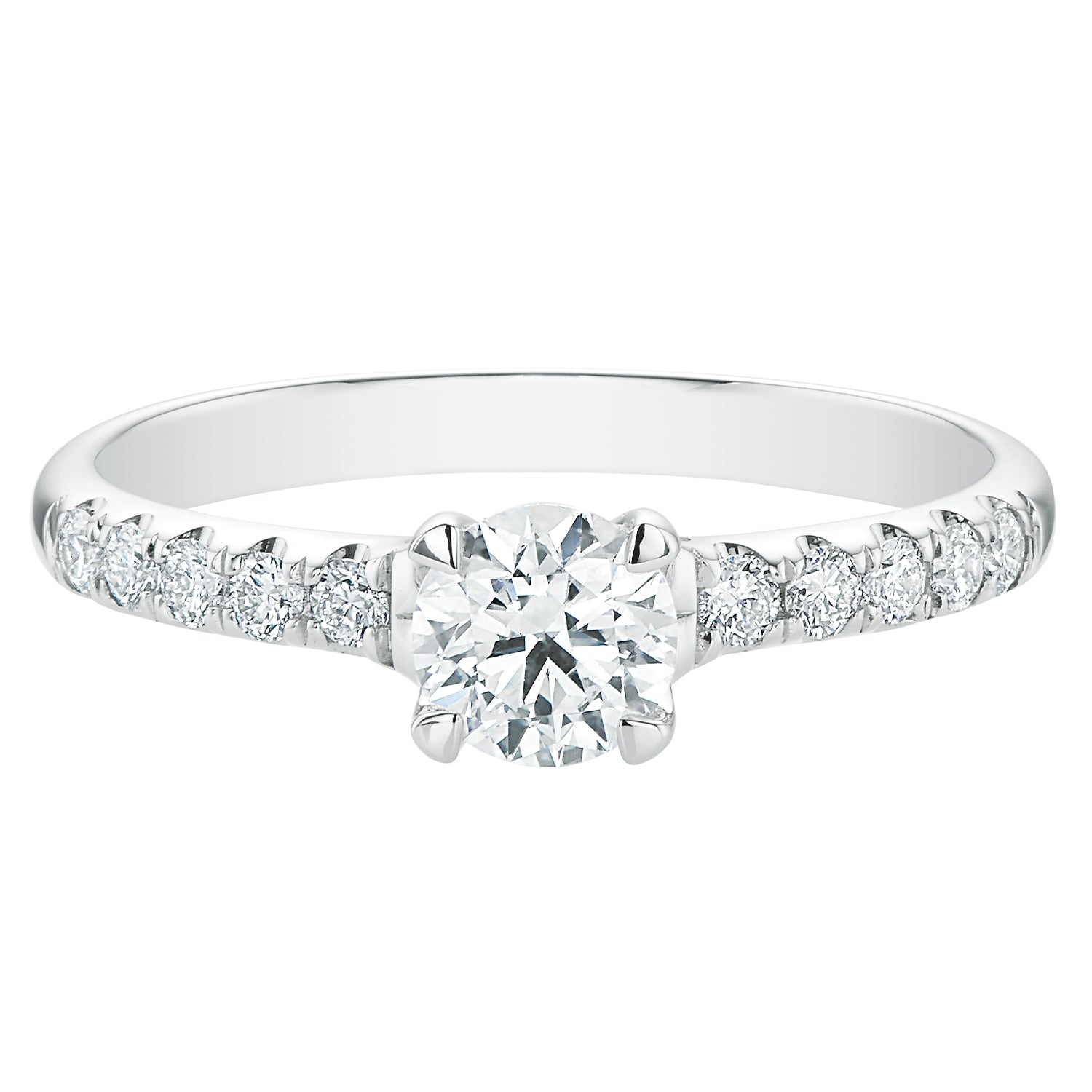Promise 18ct White Gold Round Brilliant Cut with 0.70 CARAT tw of Diamonds