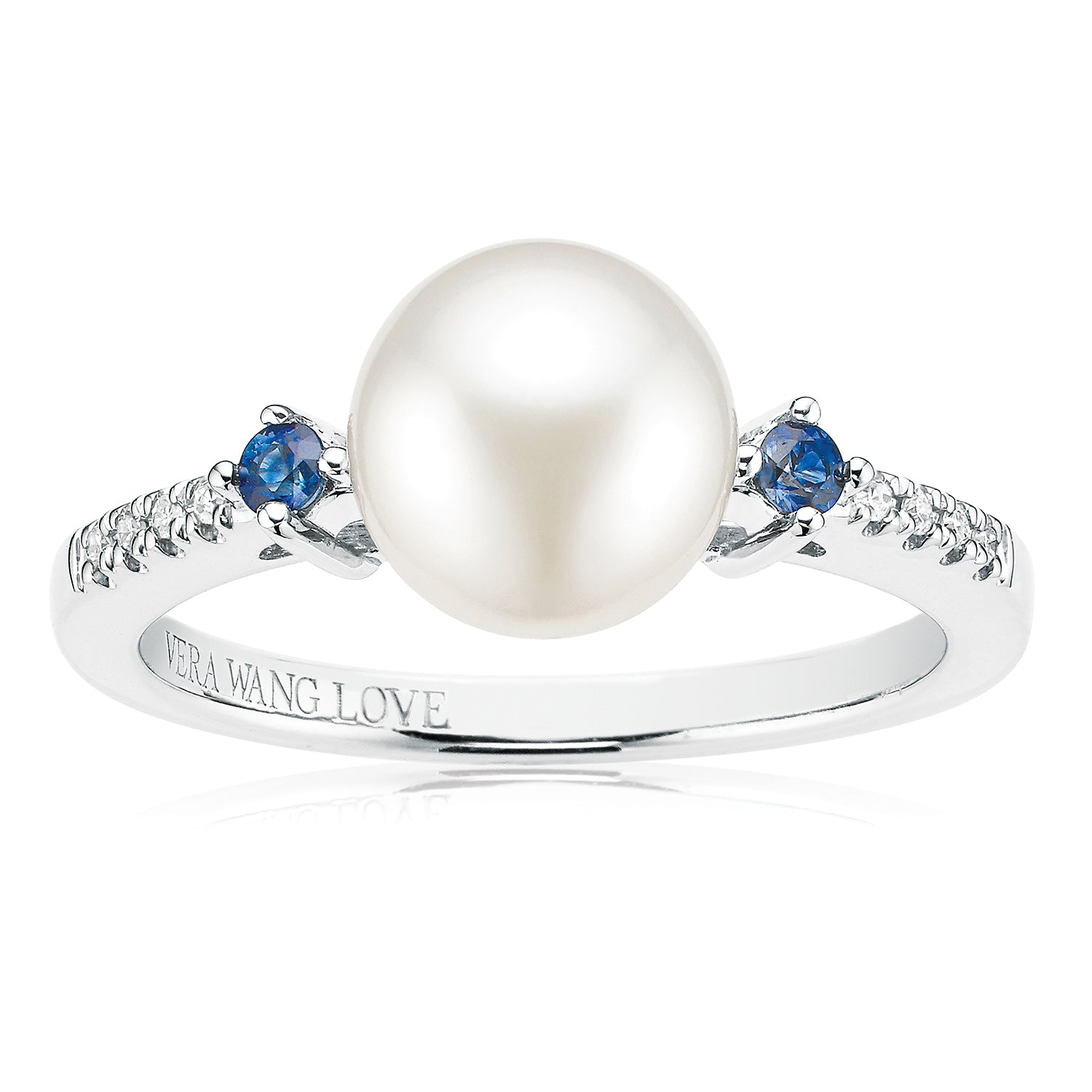 Vera Wang Love Sterling Silver Diamond Set Fresh Water Pearl & Sapphire