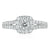 Rand 18ct Two Tone Gold Round Brilliant Cut - 1 Carat Diamond Ring
