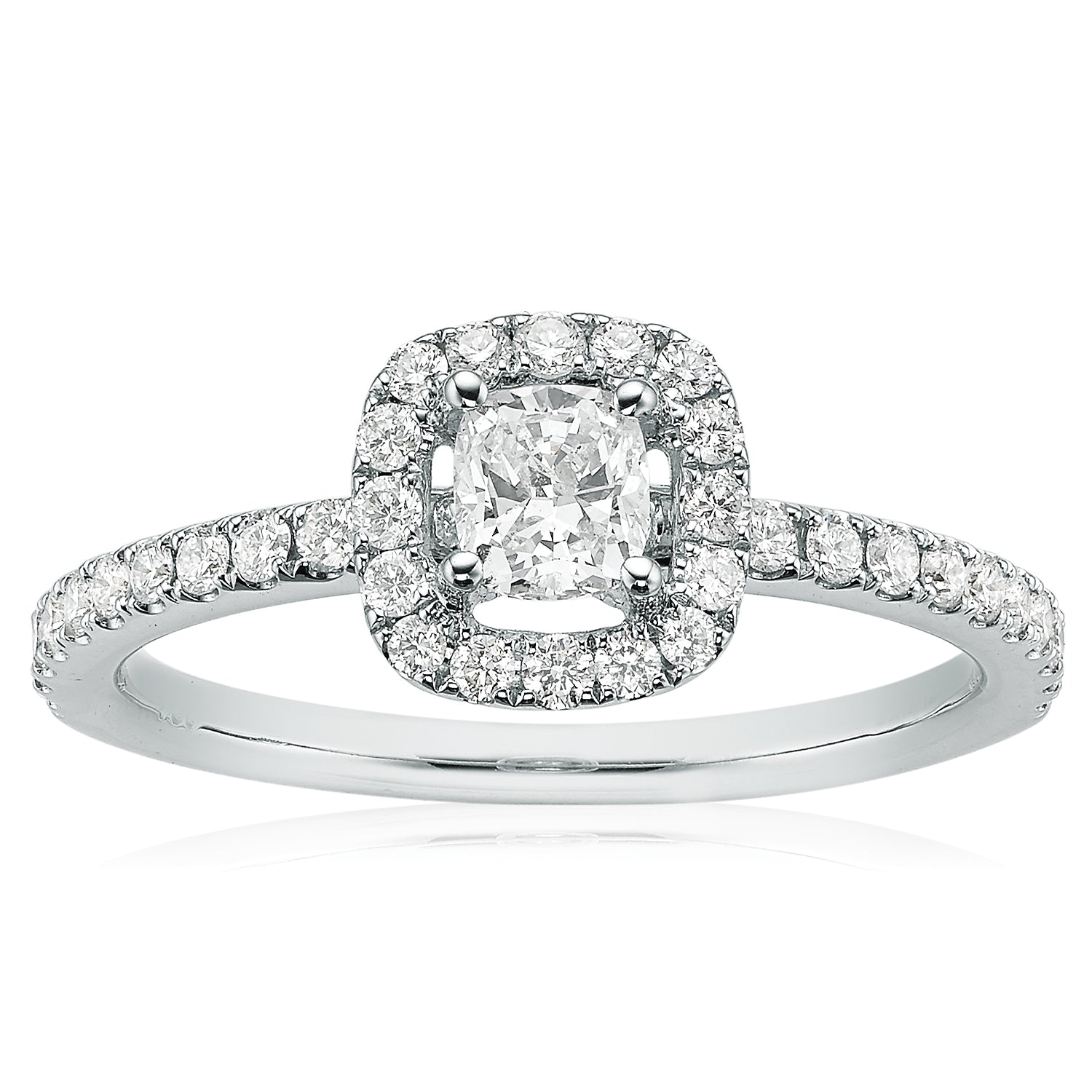Rand 18ct White Gold Cushion Cut with 0.65 CARAT tw of Diamonds