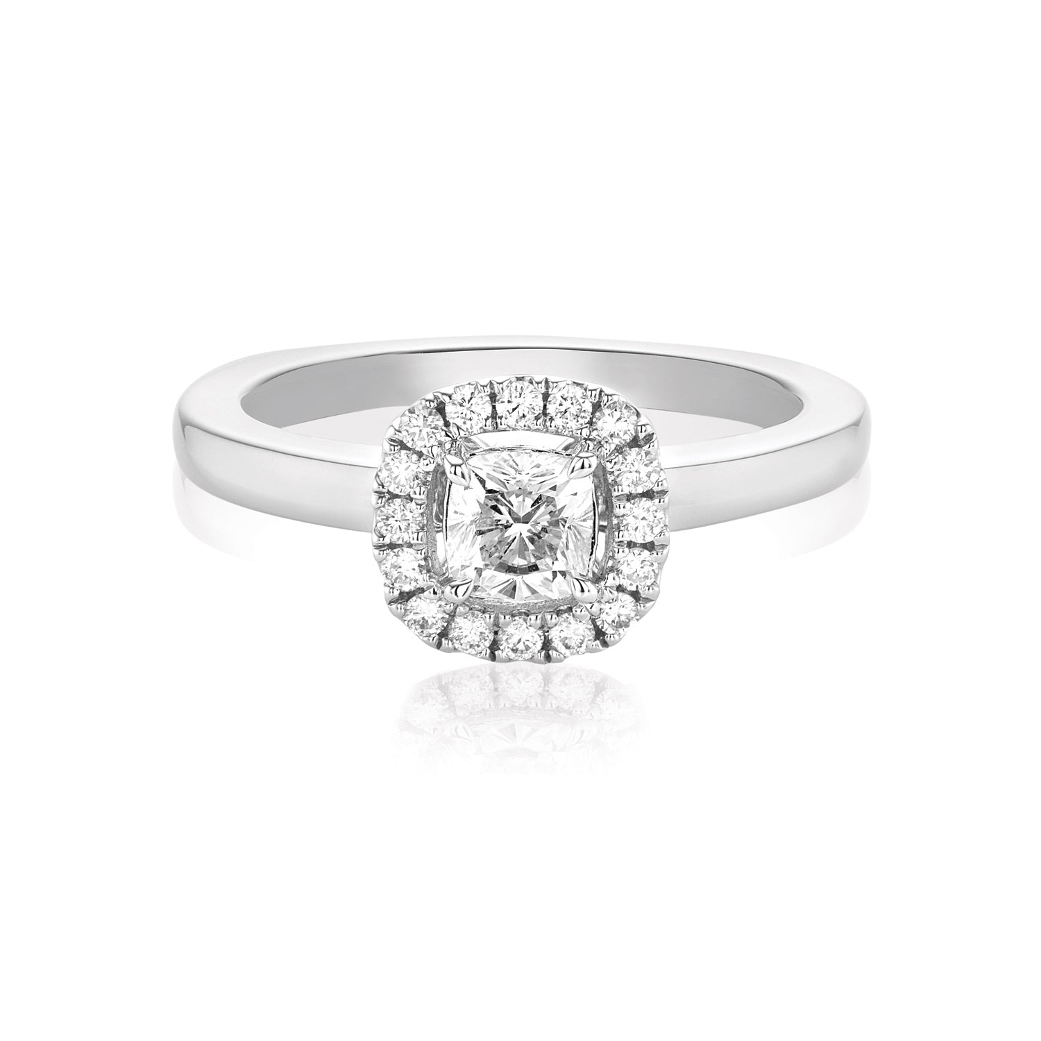 Rand 18ct White Gold Cushion Cut with 0.60 CARAT tw of Diamonds
