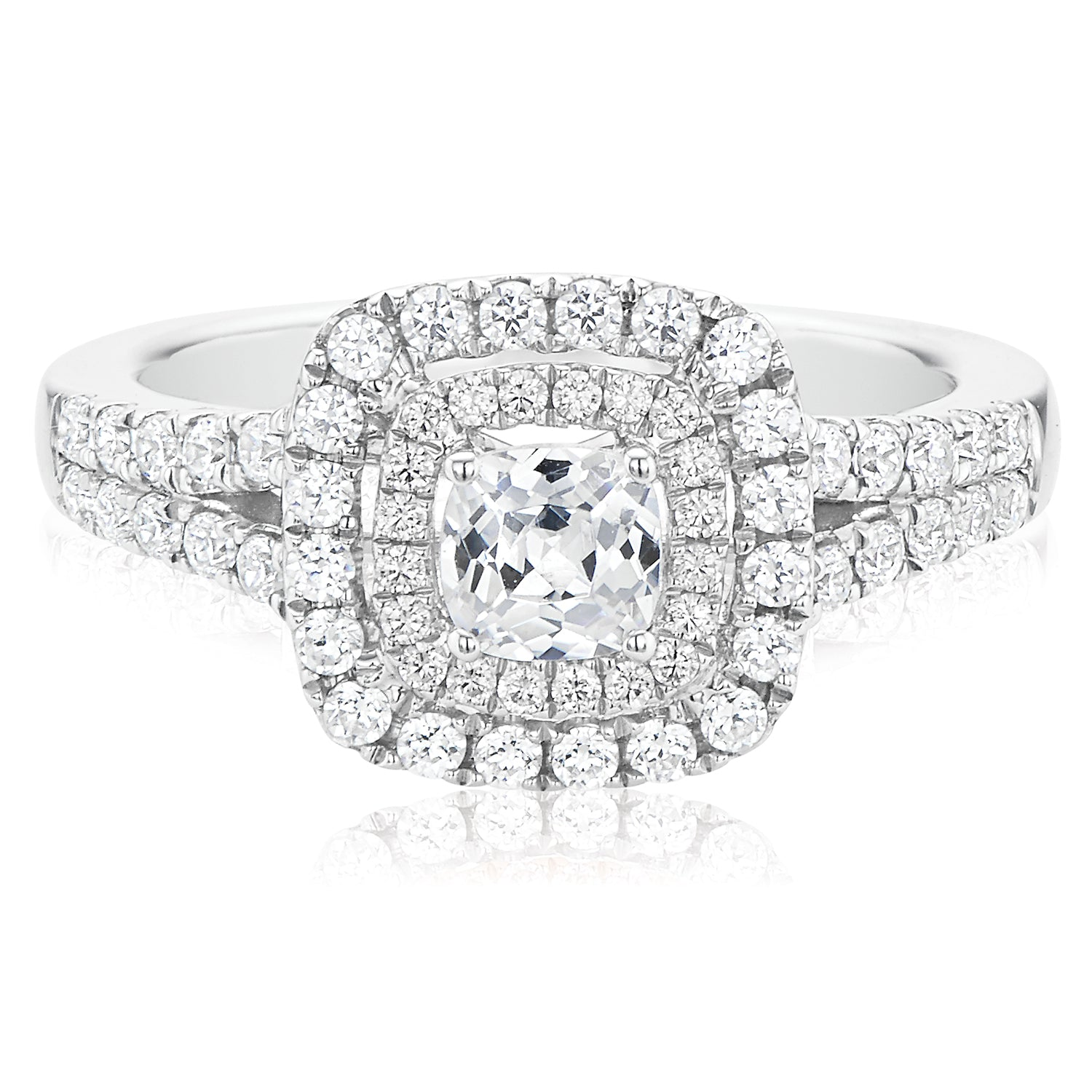 Rand 18ct White Gold Cushion Cut with 1 CARAT tw of Diamonds