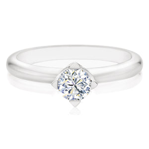 Forevermark 18ct White Gold Rings with Round Brilliant Cut 1/2 Carat Of Diamonds