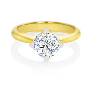 Forevermark 18ct Yellow Gold Rings with Round Brilliant Cut 1 1/2 Carat Of Diamonds