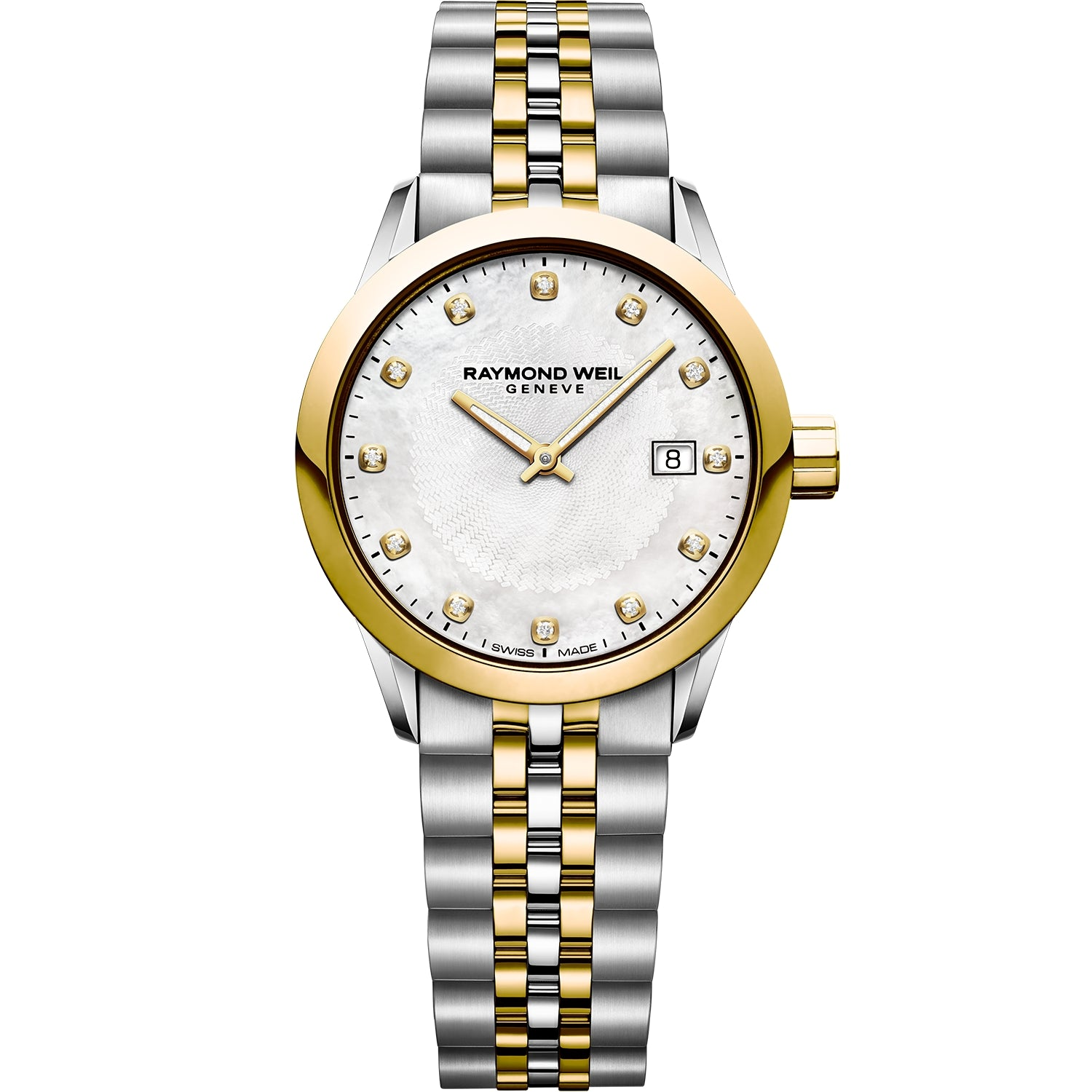 Freelancer Ladies Quartz 12 Diamond Two-Tone Gold Watch 5629-STP-97081