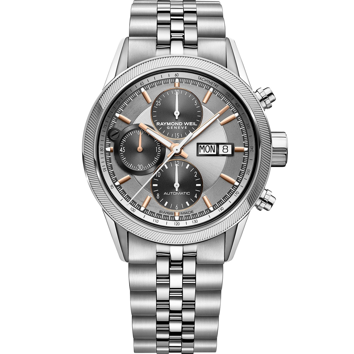 Freelancer Men's Automatic Chronograph Silver Dial Watch 7731-ST2-65655