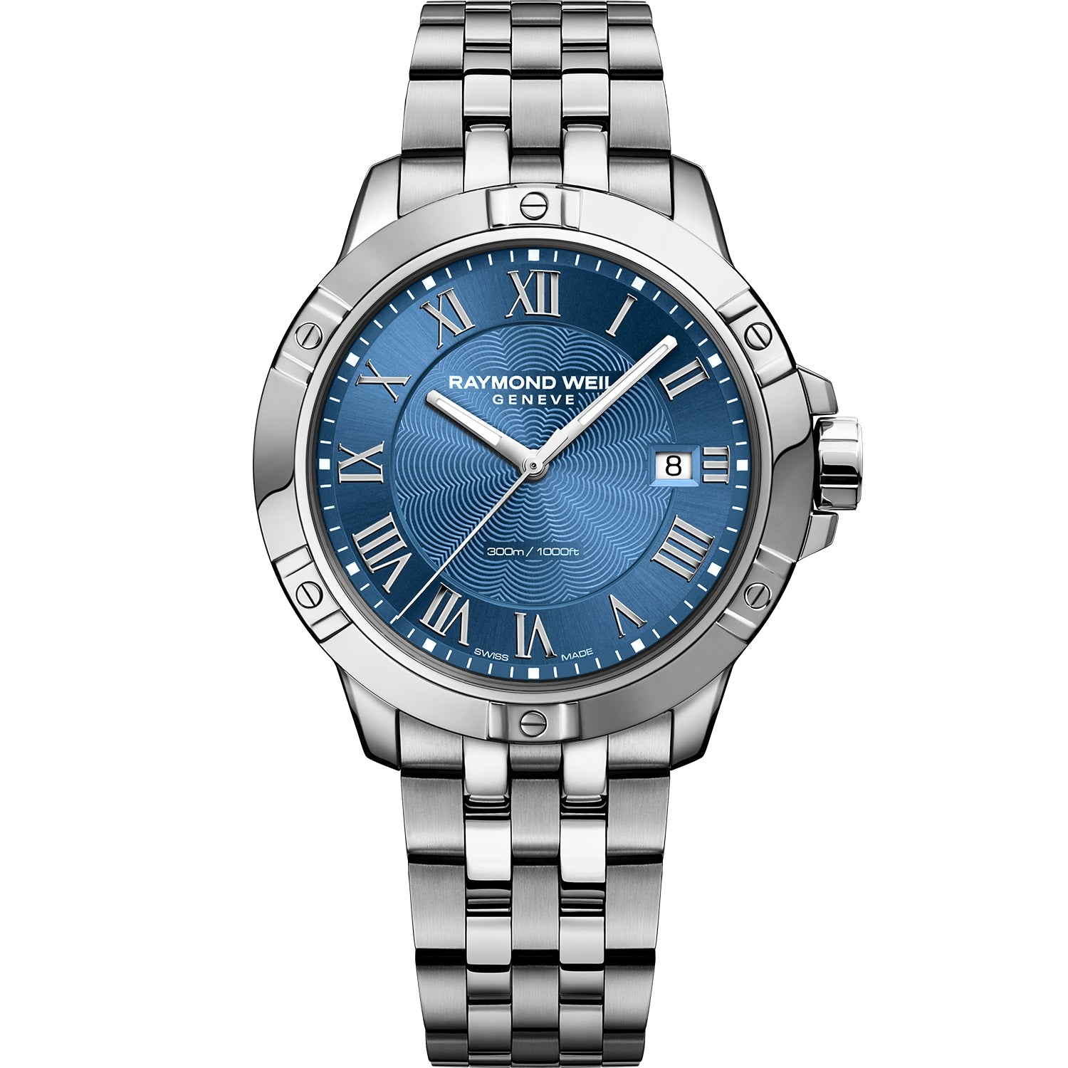 Tango Classic Men's Quartz Steel Blue Bracelet Watch 8160-ST-00508