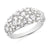 9ct White Gold Round Brillant & Baguette Cut with 1 CARAT tw of Diamonds