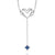 Vera Wang Love Sterling Silver Princess Cut Sapphire Heart