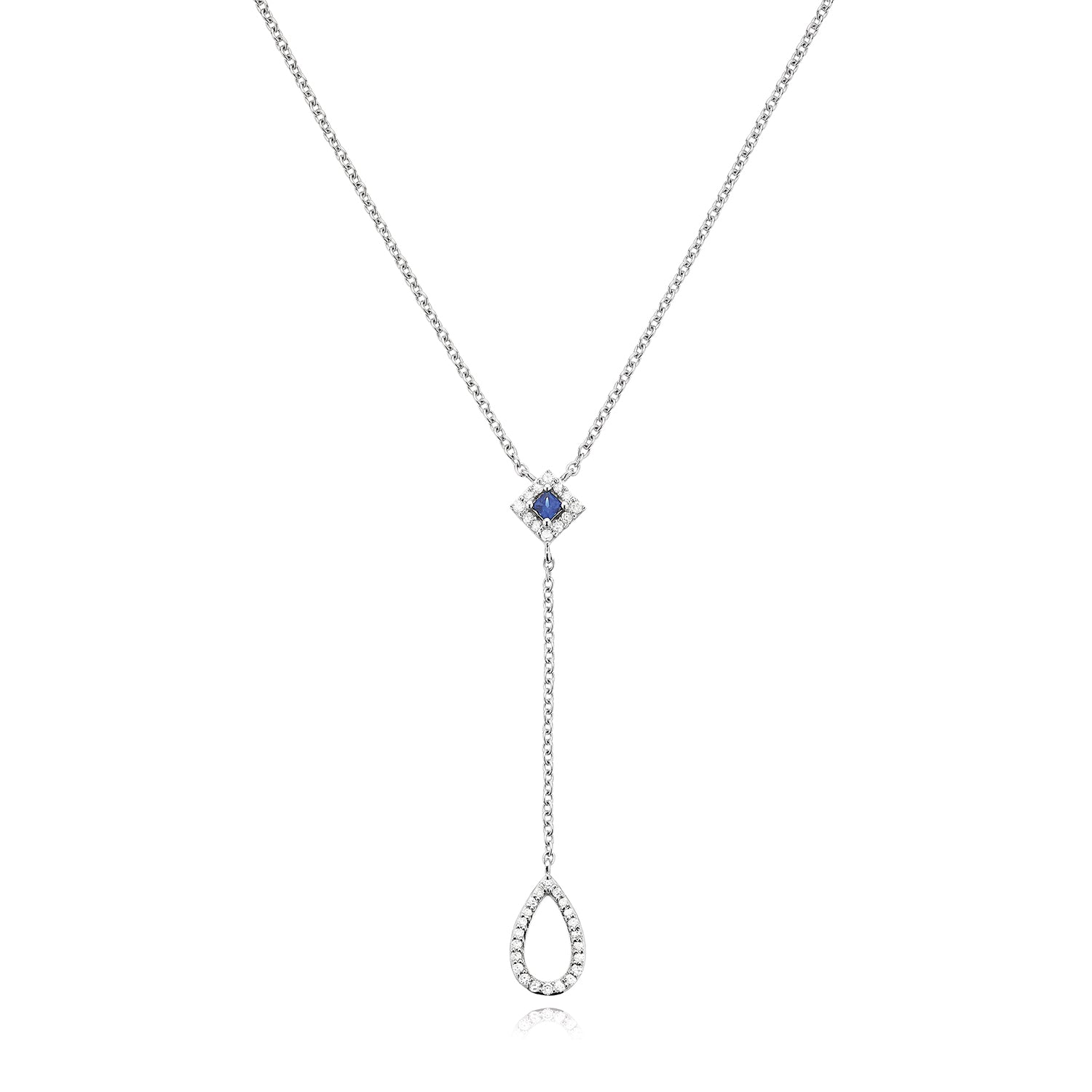 Vera Wang Love Sterling Silver Round Brilliant Cut with 0.15 CARAT tw of Diamonds