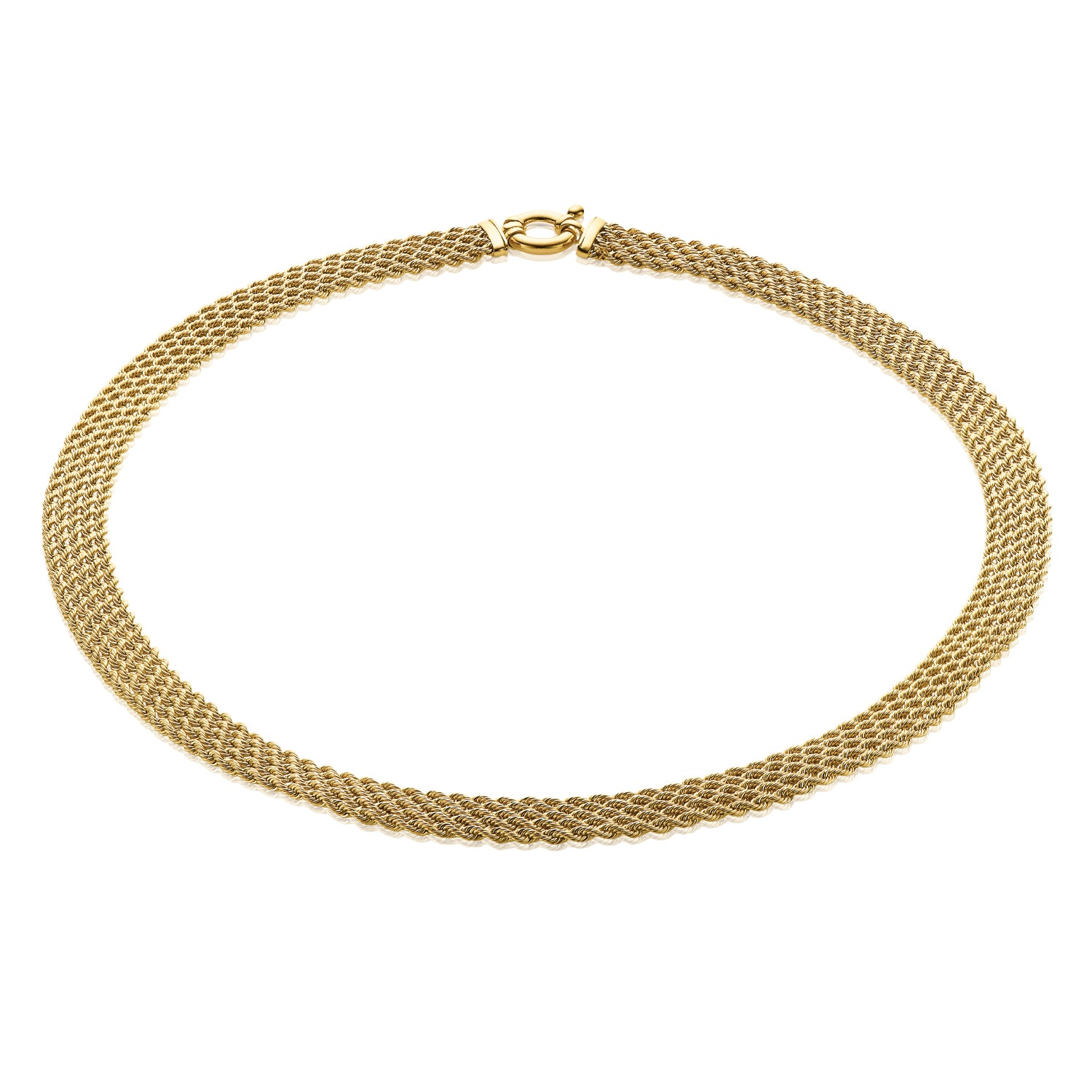 9ct Yellow Gold 45cm 5 Strand Rope