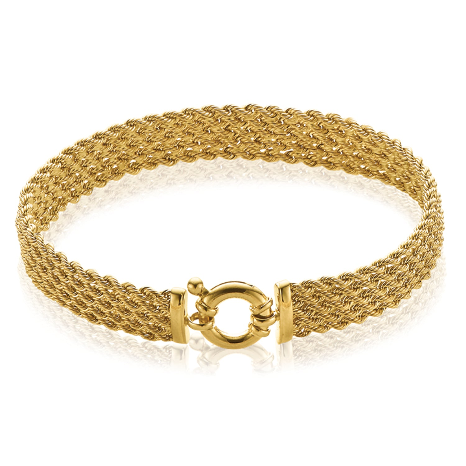 9ct Yellow Gold 19cm 5 Strand Rope