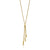 9ct Yellow Gold 45cm Tassle Drop