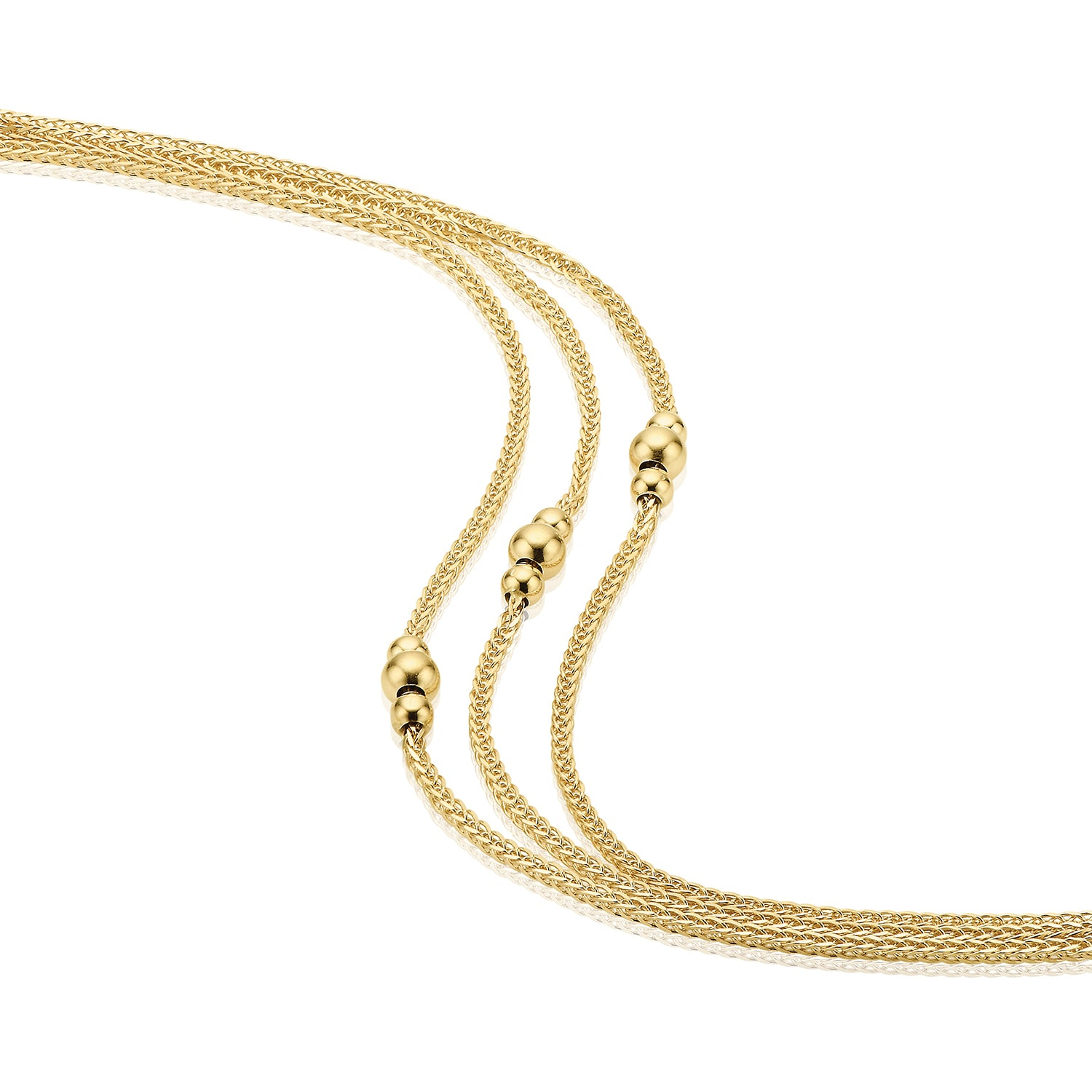 9ct Yellow Gold 19cm Layered