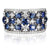 9ct White Gold  0.70 CARAT tw of Diamonds Natural Sapphire
