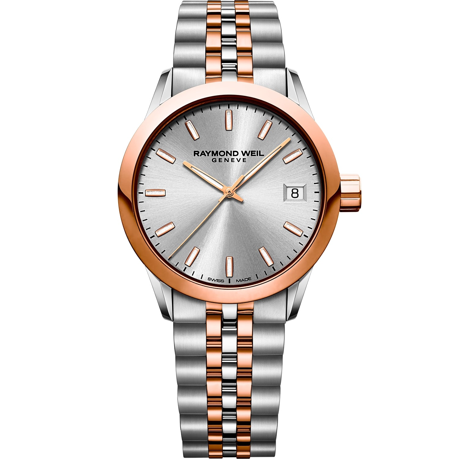 Freelancer Ladies Quartz Two-Tone Rose Gold Date Watch 5634-SP5-65021