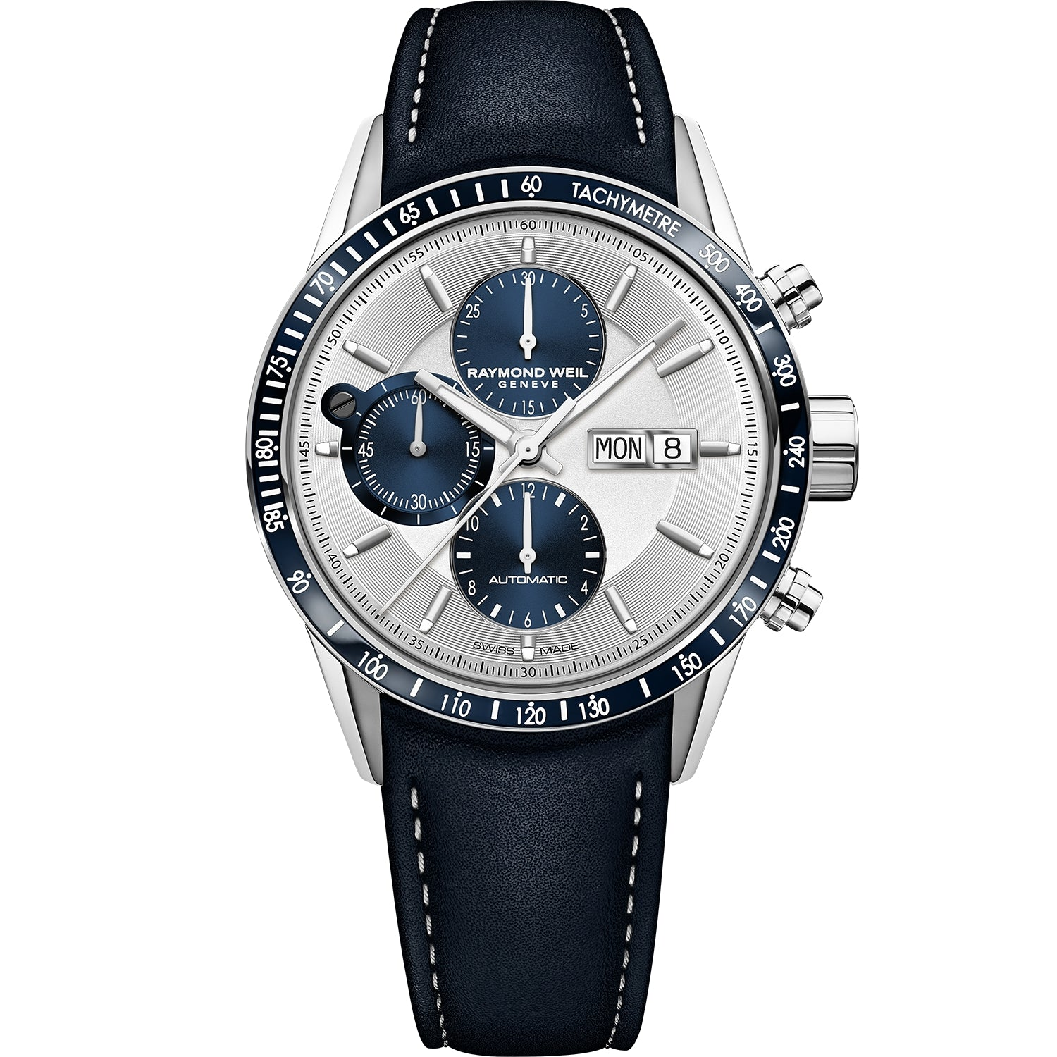 Freelancer Men's Automatic Chronograph Blue Leather Watch 7731-SC3-65521