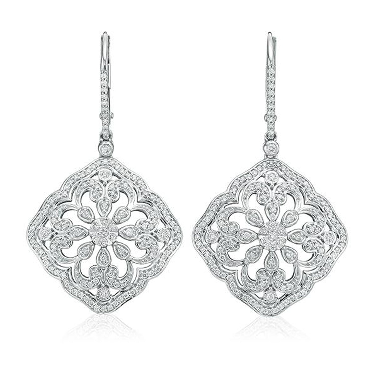 Chandelier Collection 9ct White Gold Round Brilliant Cut with 3/4 CARAT tw of Diamonds