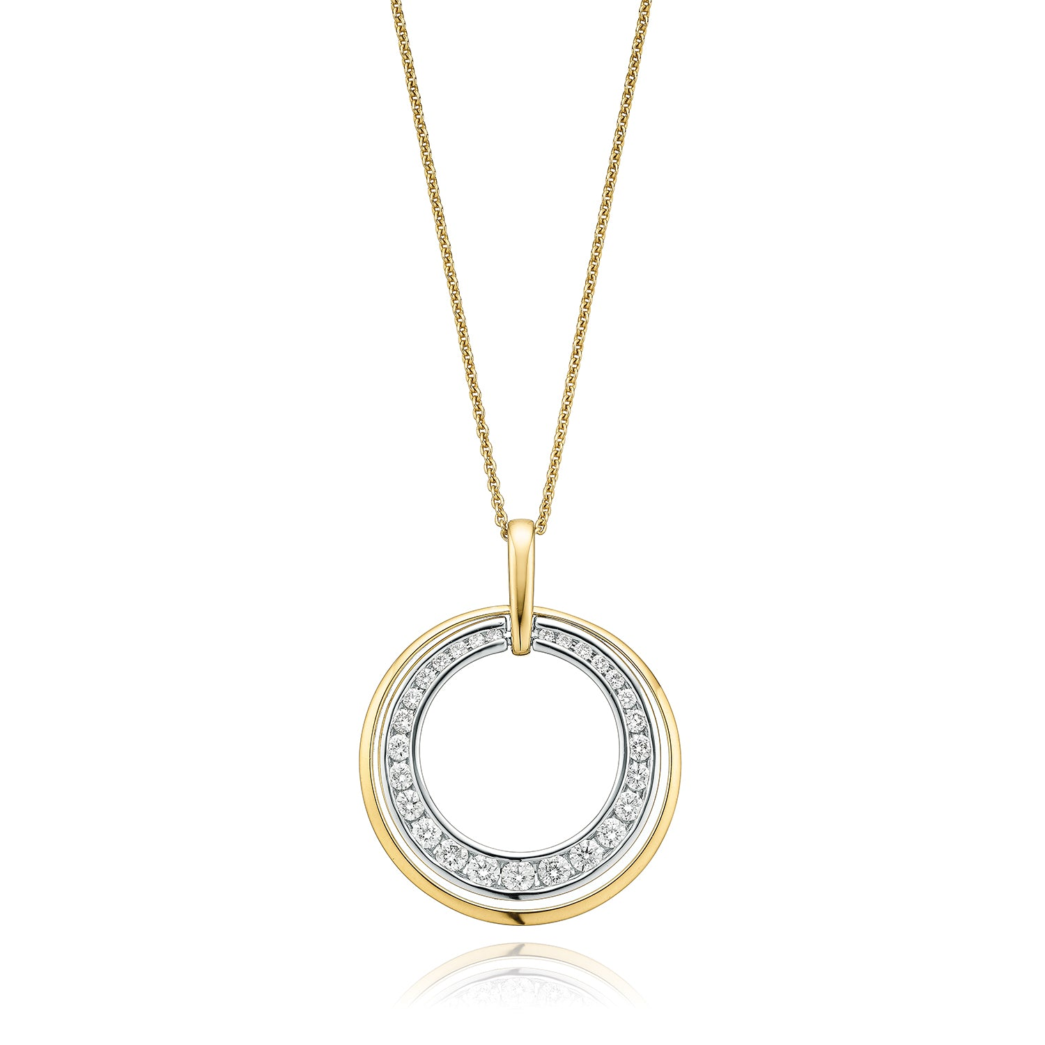 18ct Yellow Gold Round Brilliant Cut with 1/2 CARAT tw of Diamonds