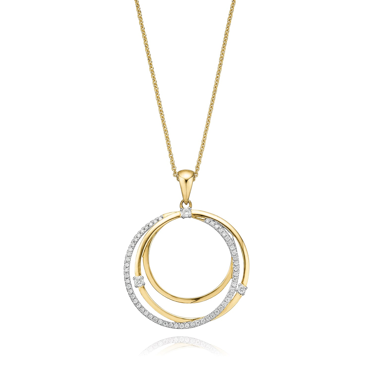 9ct Yellow Gold Round Brilliant Cut with 0.20 CARAT tw of Diamonds
