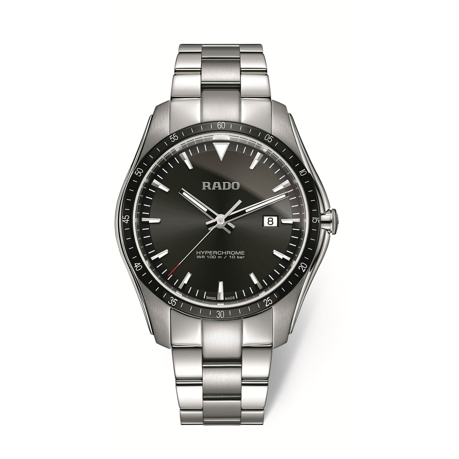 RADO HyperChrome Xxlarge watch with black high-tech ceramic bezel R32502153