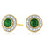 9ct Yellow Gold Round Brilliant Cut Emerald Diamond Set
