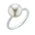 18ct White Gold 10mm South Sea Pearl with Diamond Set