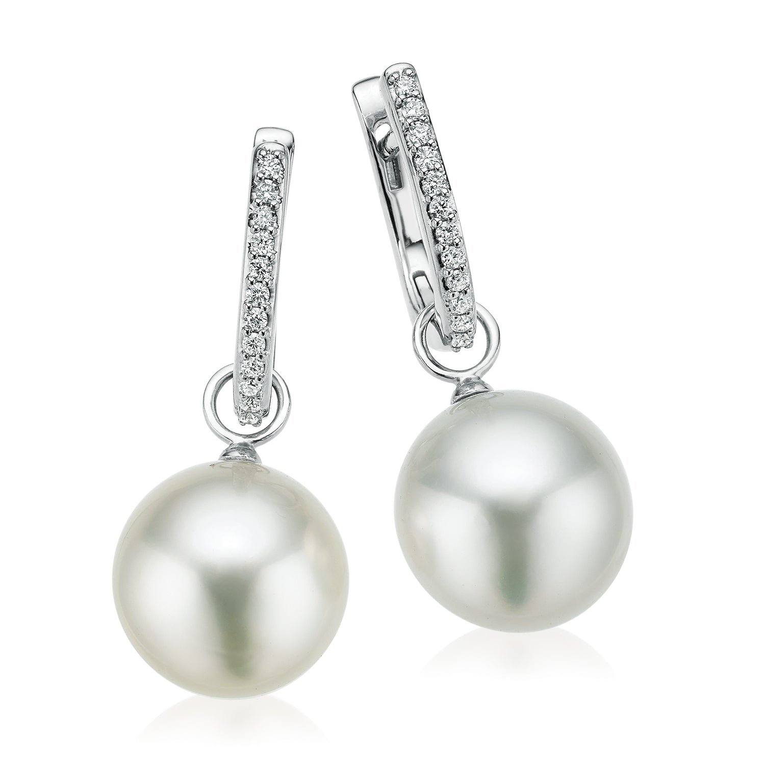 18ct White Gold 12mm South Sea Pearl Diamond Set