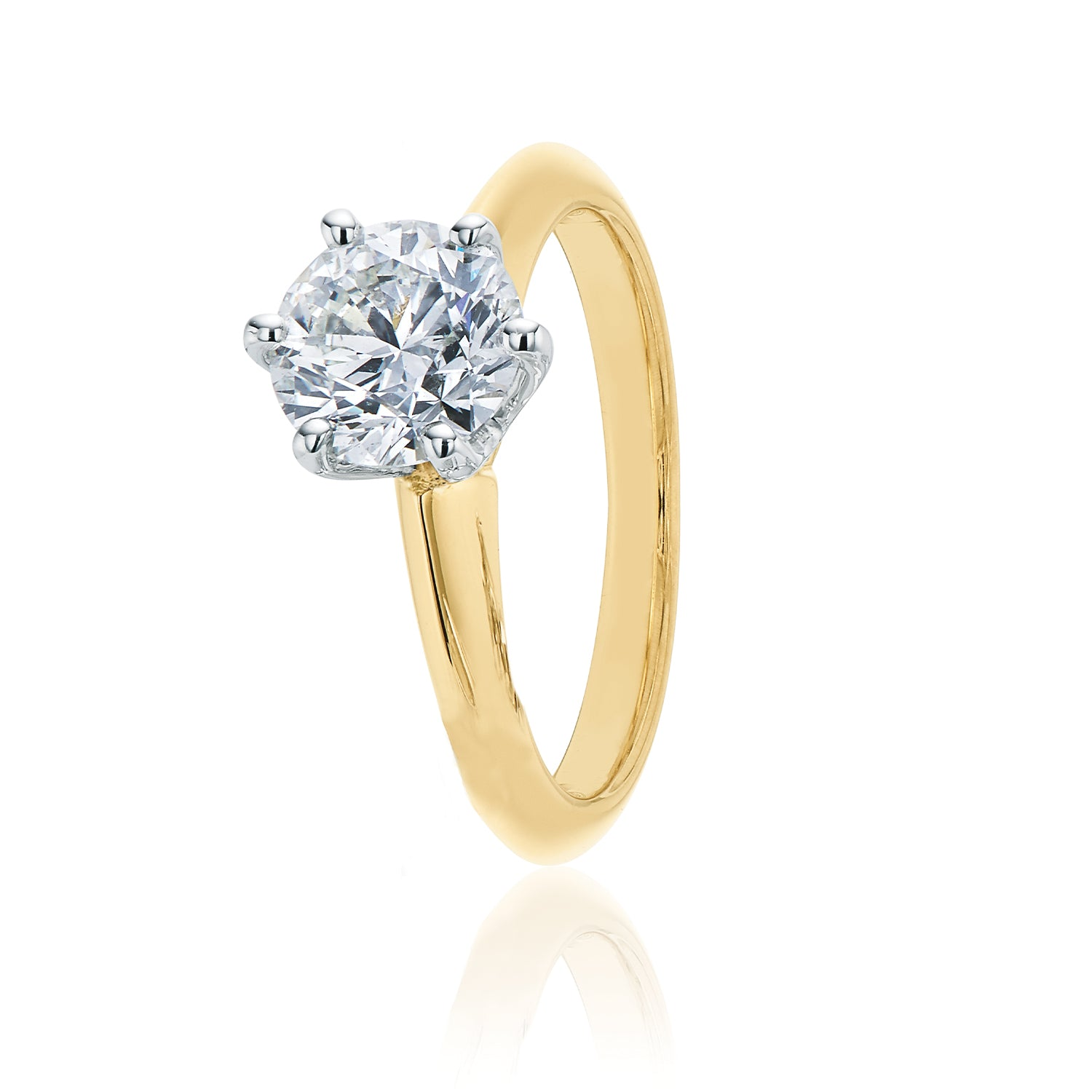 Promise 18ct Two Tone Gold Round Brilliant Cut with 1 CARAT of Diamonds