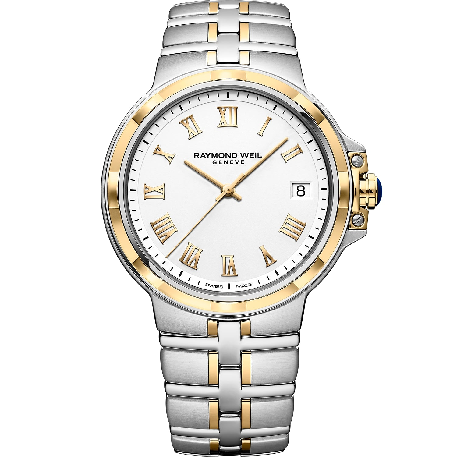 Parsifal Men's Quartz Classic White Dial Bracelet Watch 5580 -STP-00308