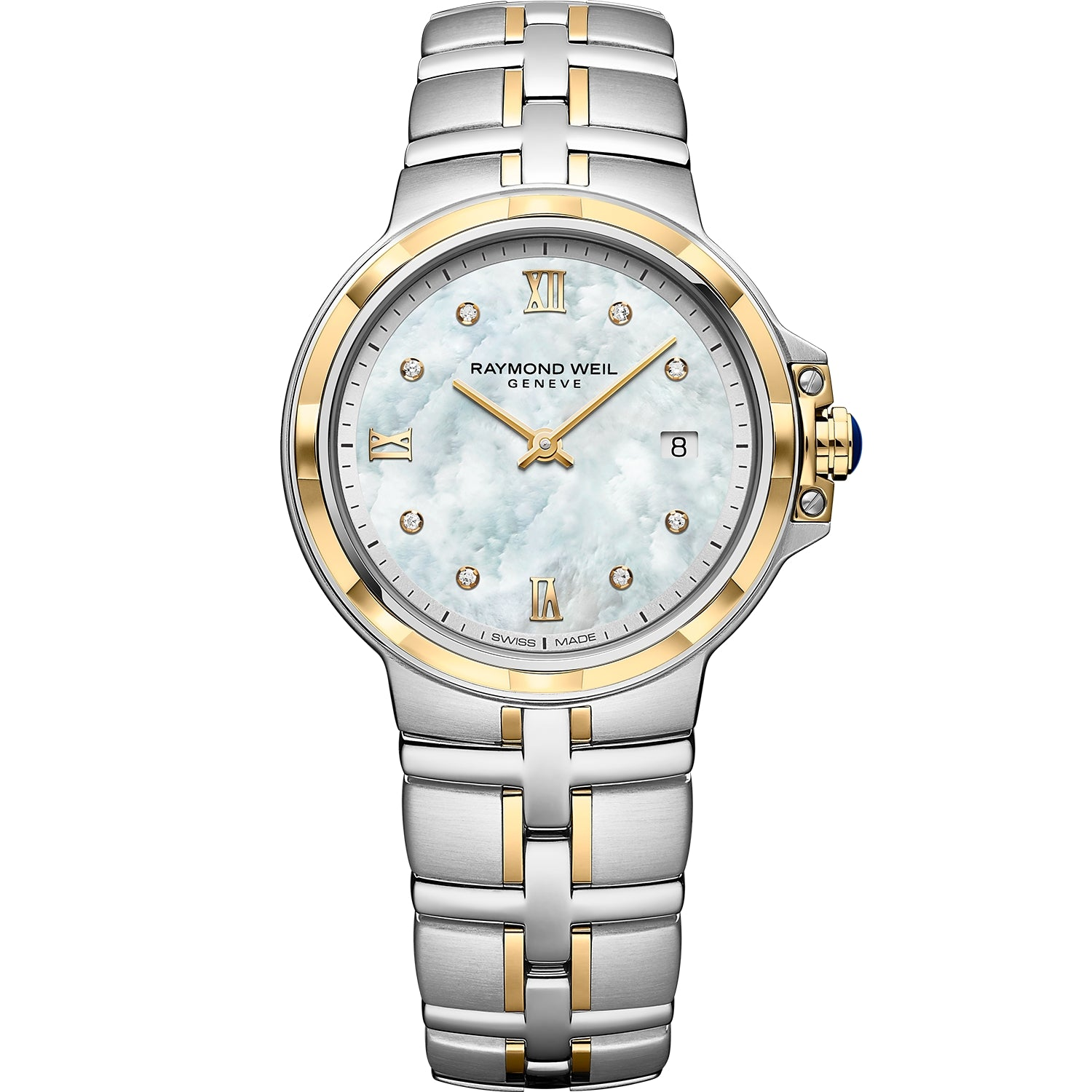 Parsifal Ladies Quartz Classic 8 Diamond Dial Watch 5180 -STP-00995