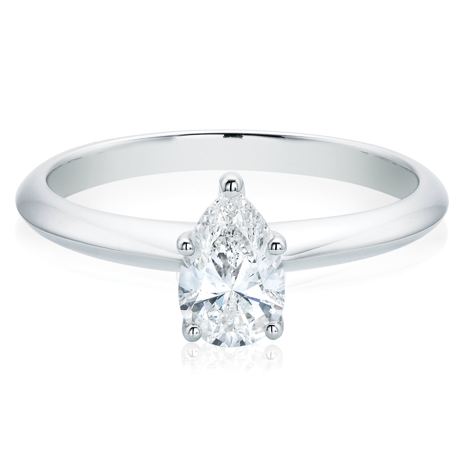 Promise 18ct White Gold Pear Cut with 0.70 CARAT of Diamonds