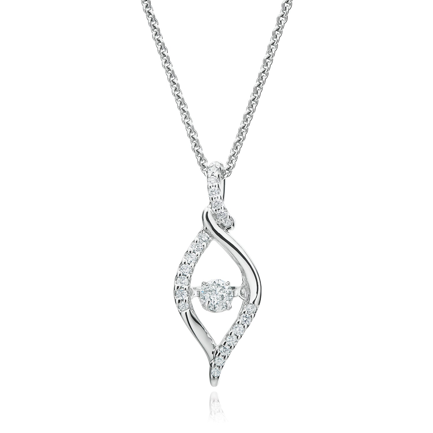 Every Child is a Diamond 9ct White Gold Round Brilliant Cut with 0.20 CARAT tw of Diamond Pendant