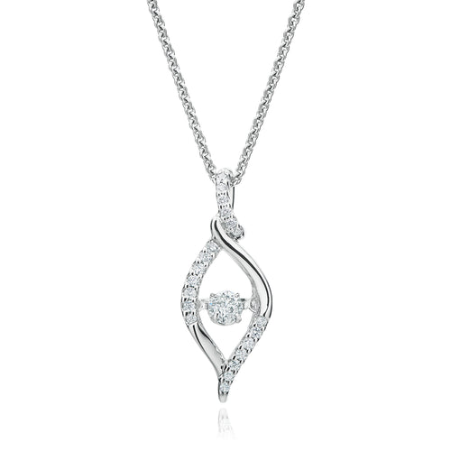 Every Child is a Diamond 9ct White Gold Round Brilliant Cut with 0.20 CARAT tw of Diamonds