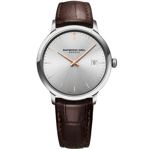 Toccata Men's Classic Brown Leather Strap Quartz Watch 5485-SL5-65001